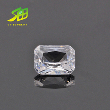 square shape synthetic white corundum rough price per carat for decoration