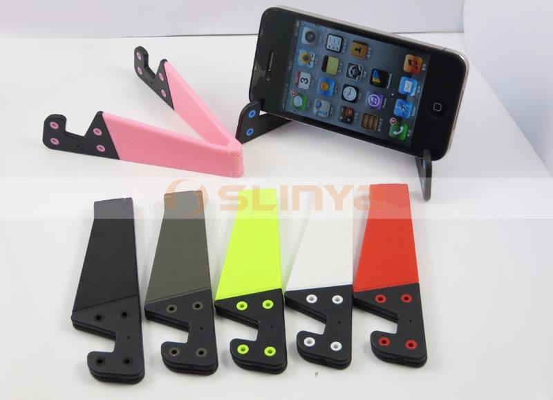 Mini Size Portable Universal Desktop V Shape Foldable Tablet Phone Stand