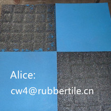 outdoor tiles for driveway/Recycle Wearing-resistant rubber tile
