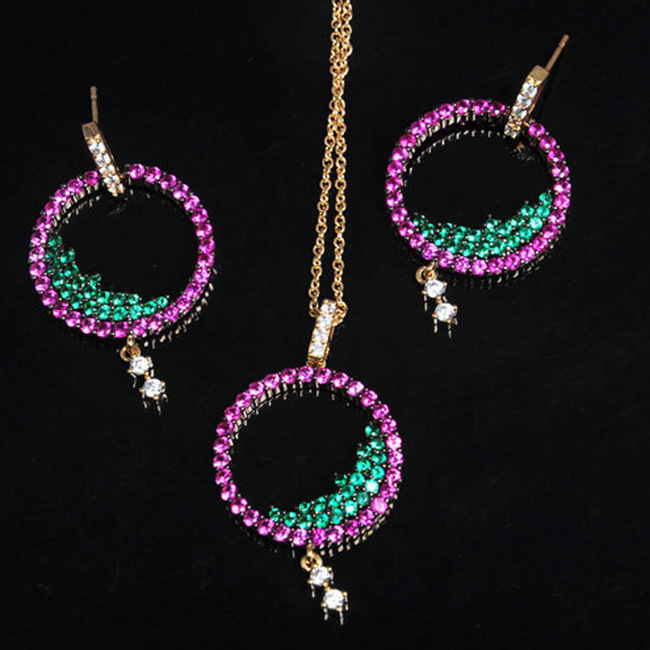 OB Jewelry-Newest Products CZ Jewelry Innovative Dubai Gold Jewelry Set For Women