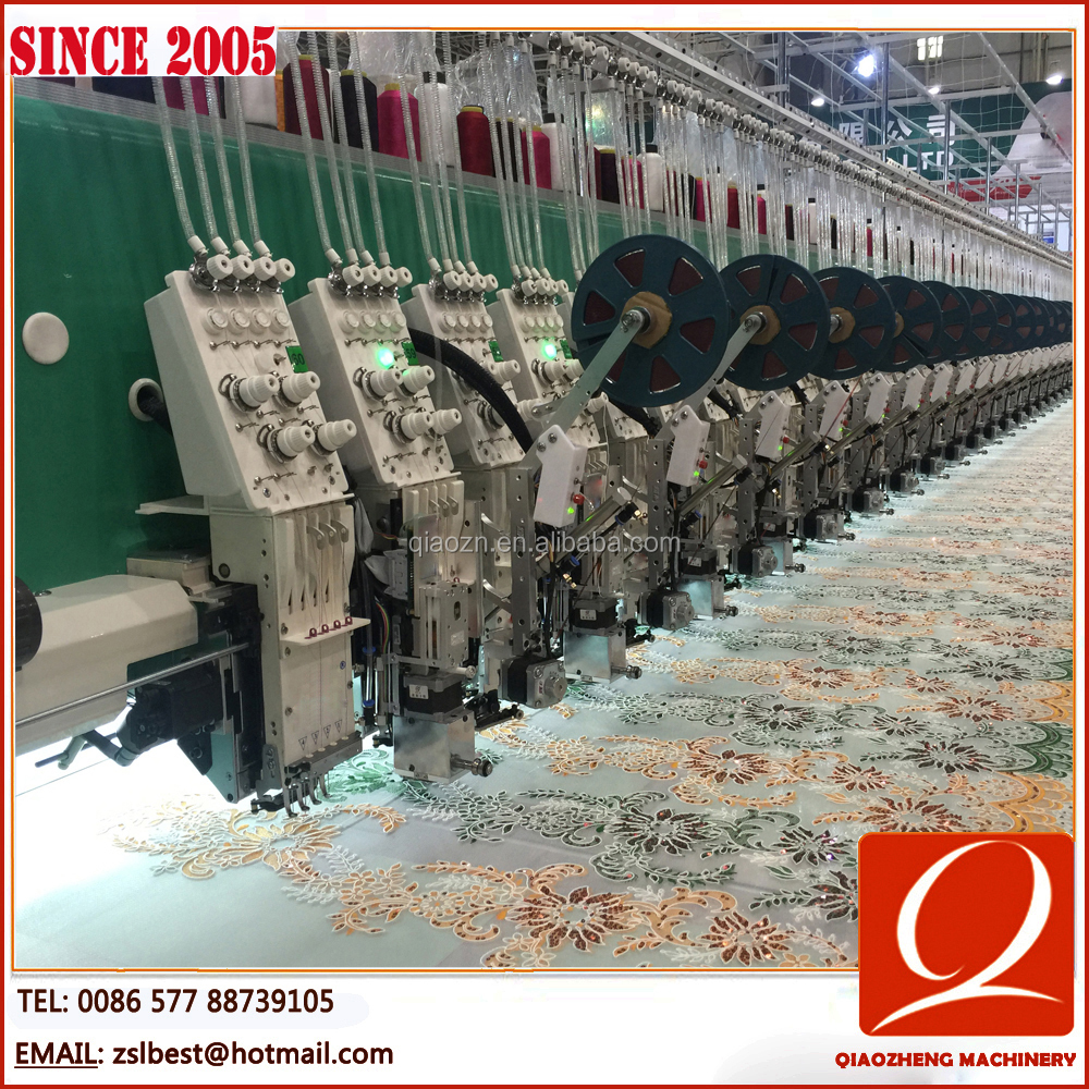CE Qualified Computerized Mixed Coiling+Sequin+Cording+Flat Embroidery Machine(Manufacturer)