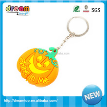 2017 Promotional Gifts cheap custom logo print pumpkin key chain Wholesale