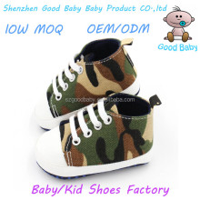 cheap soft sole boy canvas casual walker camo baby moccasins shoes