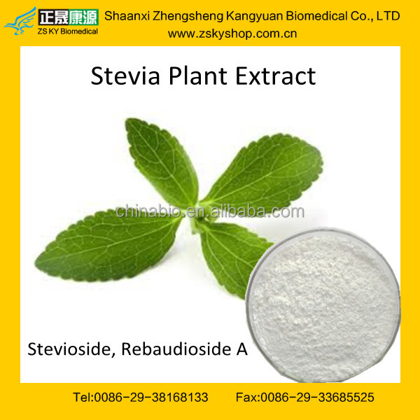 GMP factory supply Stevia Extract Steviosides/Rebaudioside A