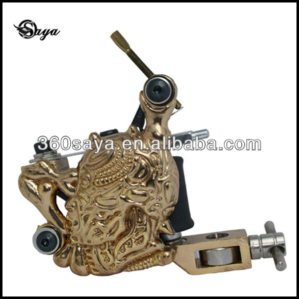 2014 Best Latest Design Coils Skull Empastic Tattoo Machine Gun.