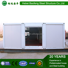 Best Selling Quality movable luxury prefabricated living 20ft container house