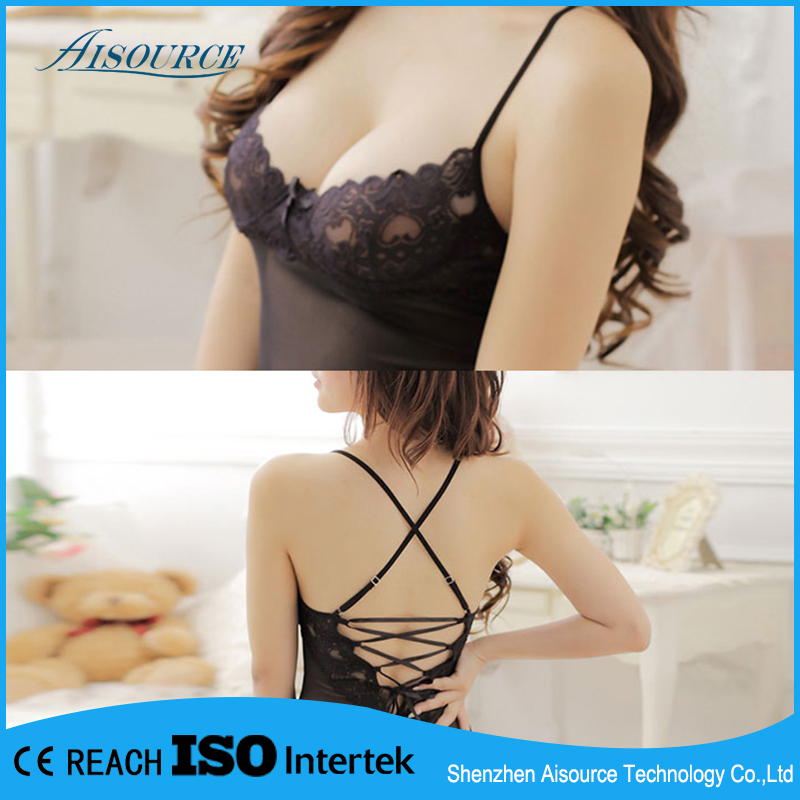 2016 low price supplier lingerie black santin panties for dream girl