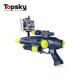Space defender double using function ar led toy battery operated toy gun with spinning led toy