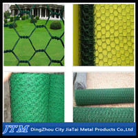 (17 years factory)PVC coated chicken wire mesh/green pvc coated chicken wire mesh/pvc coated hexagonal chicken wire mesh