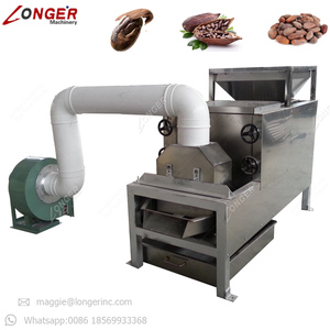Factory Price Roasted Groundnut Skin Removing Breaking Winnower Peanut Peeler And Half Separating Cocoa Bean Peeling Machine