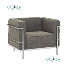 New Le Corbusier sectional fabric Sofa Ikea stainless steel base sofa Great quality ikea home furniture