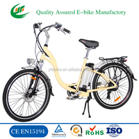 CE pedal electric motorbike with 26inch low step through electric bike (TDF01Z)