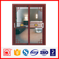 hot selling double tempered glass interior sliding door for home office