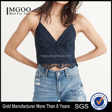 MGOO Latest Designs Sexy Women Lace Top Sleeveless T Shirt For Girls Top