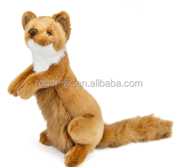 High Quality EN71 ASTM Plush Toy Fashion Weasel Plush Stuffed Animal
