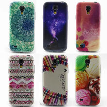 TPU Flower Dog Flower Printed Case For Samsung GALAY S4 4 5 6 7 mini i9190 S4 mini Gel Silicone Back Phone Cover