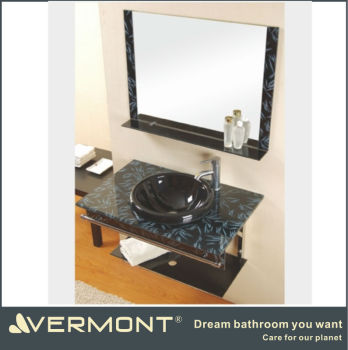 Sanitary ware wall mounted glass wash basin