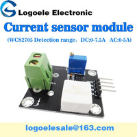 The hall current sensor wcs2705 0-7.5A DC current sensor overcurrent / short-circuit detection module