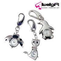 promotional animal clock Metal keychain