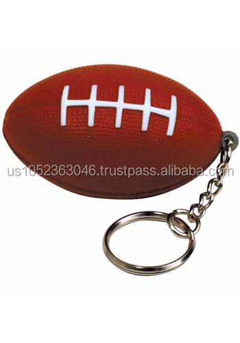 Stress reliever squeezier/ promotional gift / American football keychain