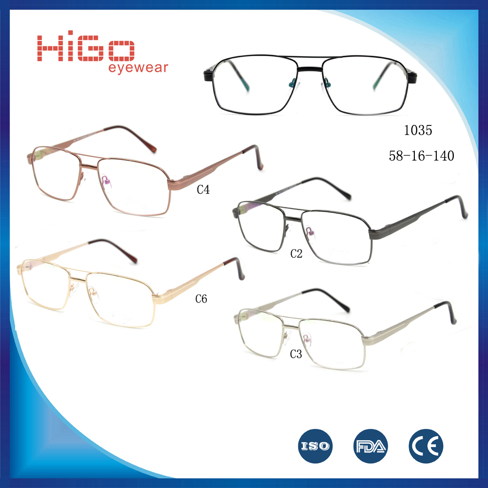 China Wholesales Metal Optical Frame Ready Goods Eyeglasses Frames Classic Spectacle Glasses