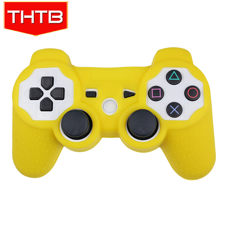 Super Grip Silicone Cover Case For PS 3 Controllers Yellow