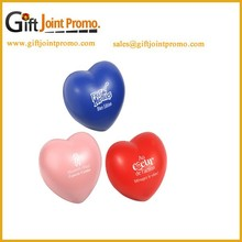 Promotional Heart Shaped PU foam Stress Ball, Pu Stress Reliever, Anti Squeeze Ball