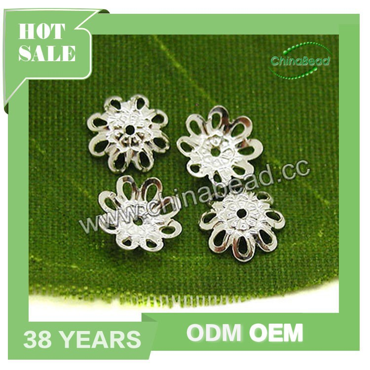 Wholesale 925 Sterling silver jewelry bead caps material to make necklaces and bracelet