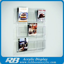 table stand acrylic magmzine holder for office
