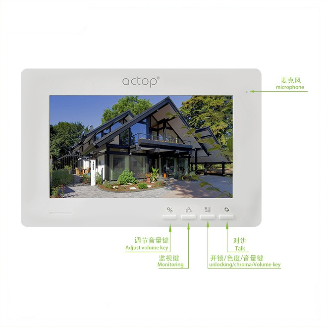 7Inch Color Screen Residential Intercom System Video Intercom