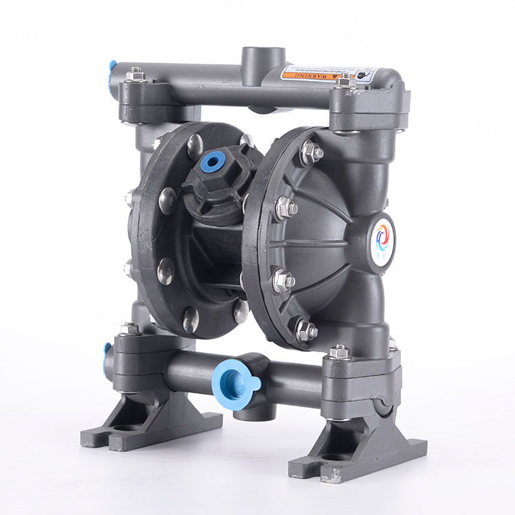 Power highly acid-resistant air operated diaphragm pump
