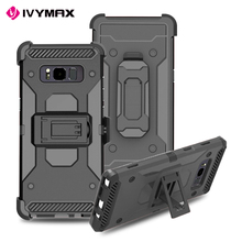 IVYMAX Newest removable tough belt clip holster case with hard kickstand for Galaxy NOTE 8