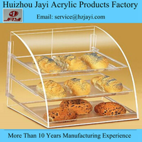 Factory custom wholesale acrylic used bakery display cases for sale/bread stand rack/ tray