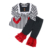 Latest fashion ruffle long sleeve loving heart children clothing set baby clothes girl clothing
