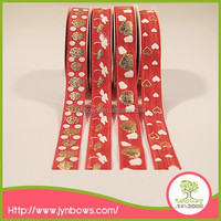 Shiny printed design beautiful decoration packing elastic banding straps