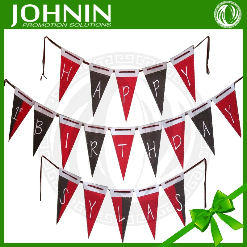 Best Quality Polyester Material Printed String Pennants flags