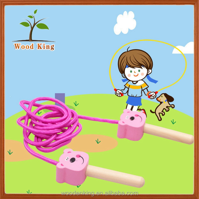 Wooden Children Skip Rope School Sports Supplies Sports Toys Fitness Kids Wholesale Crossfit Skipping Jump Rope
