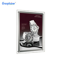 Wholesale LED window displays acrylic photo frame A1 double side hanging crystal light box