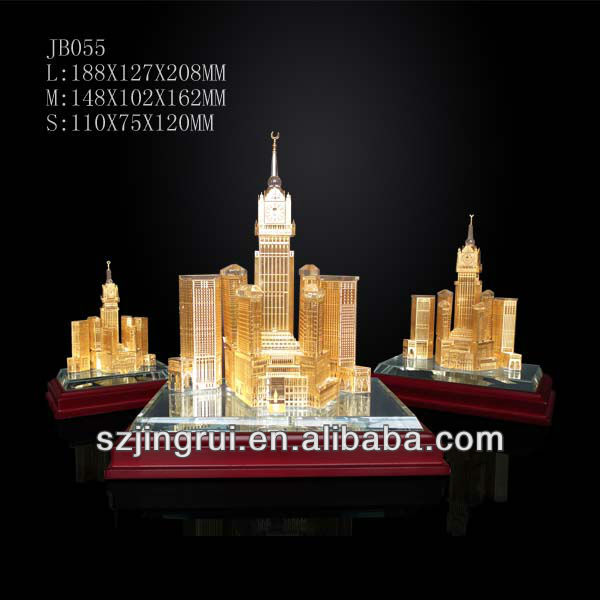 Makkah royal clock tower crystal building model