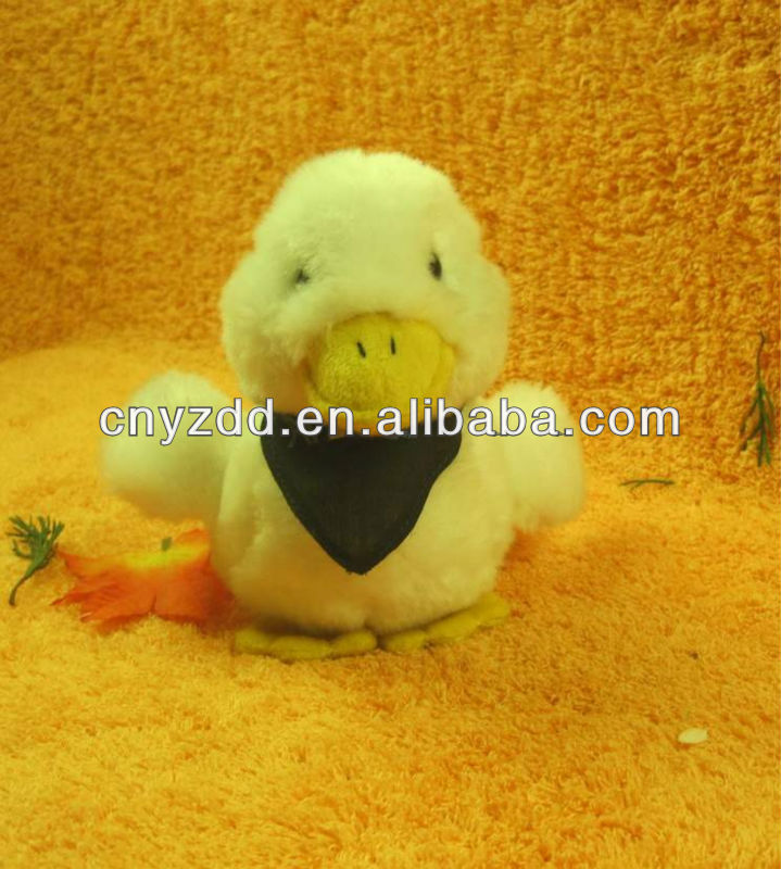 lovely plush white duck toy with black scarf