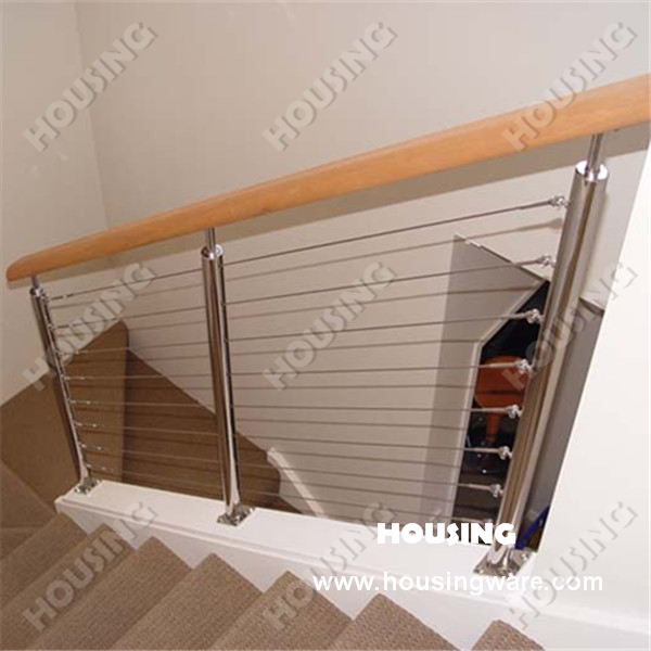 Indoor stainless steel wire stair railings cheap price