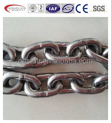 201,304,316 stainless steel chain G60,G80 high strength ss chain