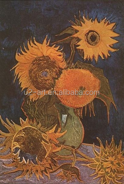 Vase with Five Sunflowers art painting by Van Gogh