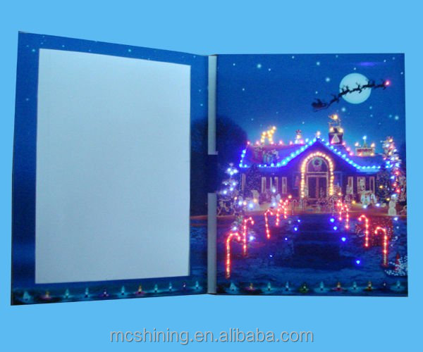 all use and paper material invitation LCD video greeting card