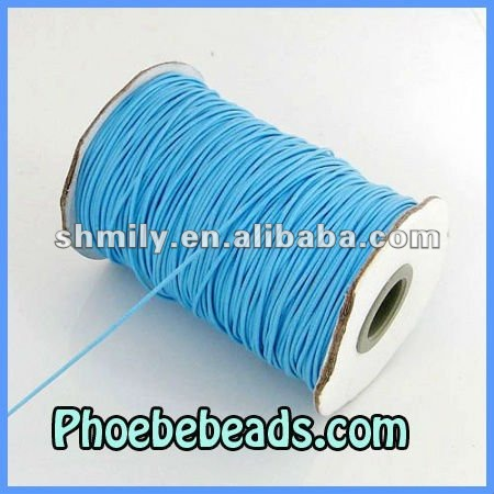 Wholesale 200 Yards/Roll Light Blue Jewelry Wax Cotton Cord 1mm WCT-006A