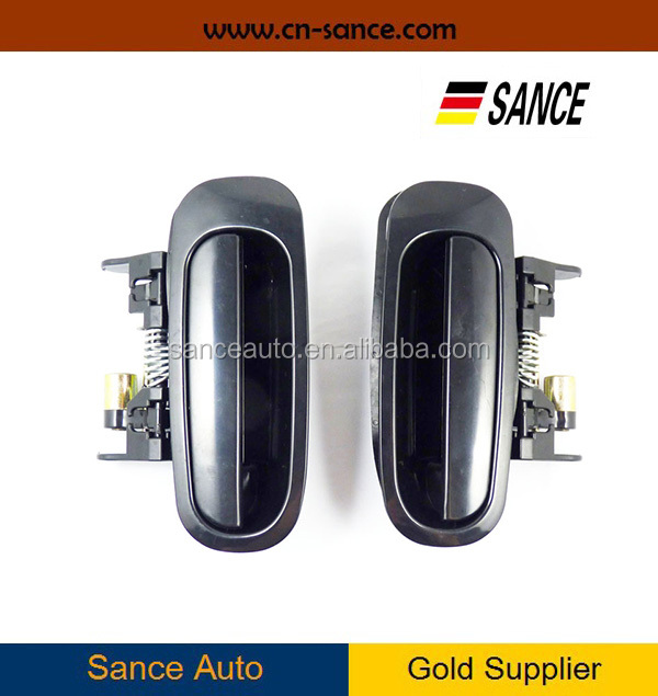 Pair Rear Left Right Outside Exterior Door Handle Black Corolla Prizm Chevrolet