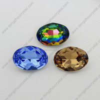Hot sell Oval crystal rhinestone glass bead sewing accessories wholesale sew on crystal beads for garment accessory