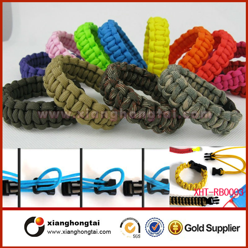 High quality survive knotted cord bracelet