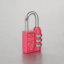 64x30x13mm Zinc Alloy Metal Suitcase Luggage Padlock Lock TSA 3-dial Combination Travel Lock