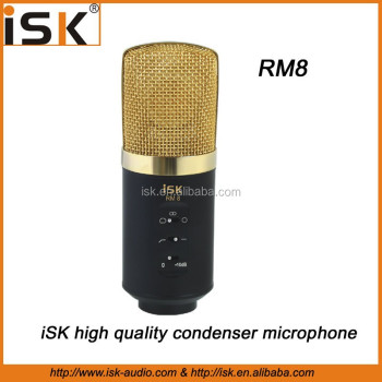 iSK RM8 Professional Large Diaphragm Condenser Microphone for studio recording and singing